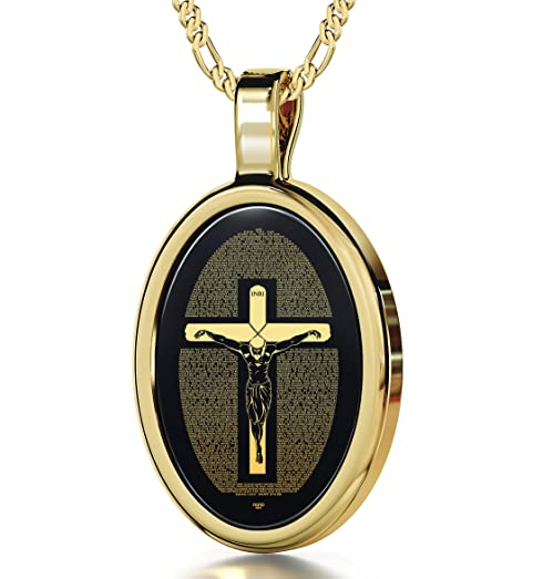 Amazoncom Crucifix Mathew 27 pendant in 14K Gold Matthew 27
