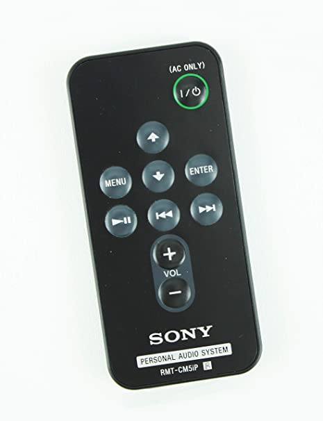 New Original Sony RMT CM5iP Bookshelf Stereo Personal Audio Remote Control For RDP M7IP
