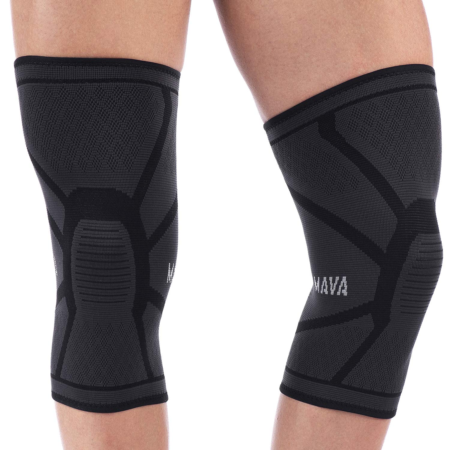 23d9f2a609 Amazon.com: Mava Sports Knee Support Compression Sleeve (All Black, Small):  Sports & Outdoors