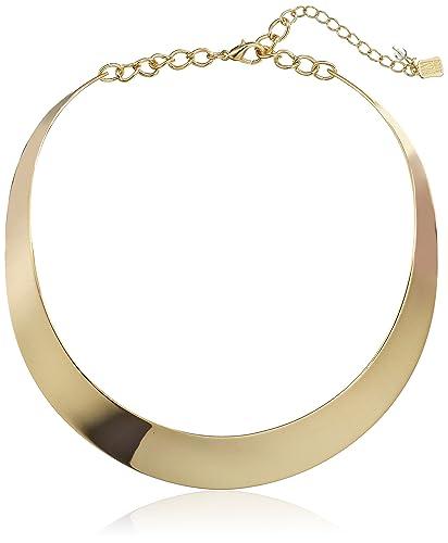 Amazon.com  Robert Lee Morris Soho Gold Half Moon Collar Necklace  Jewelry 7ac53cea3431f
