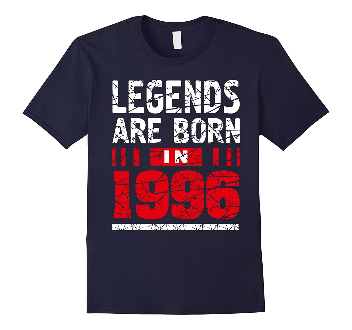 21 Year Old Boy Shirt Gift Legends Are born in 1996 Cool Tee