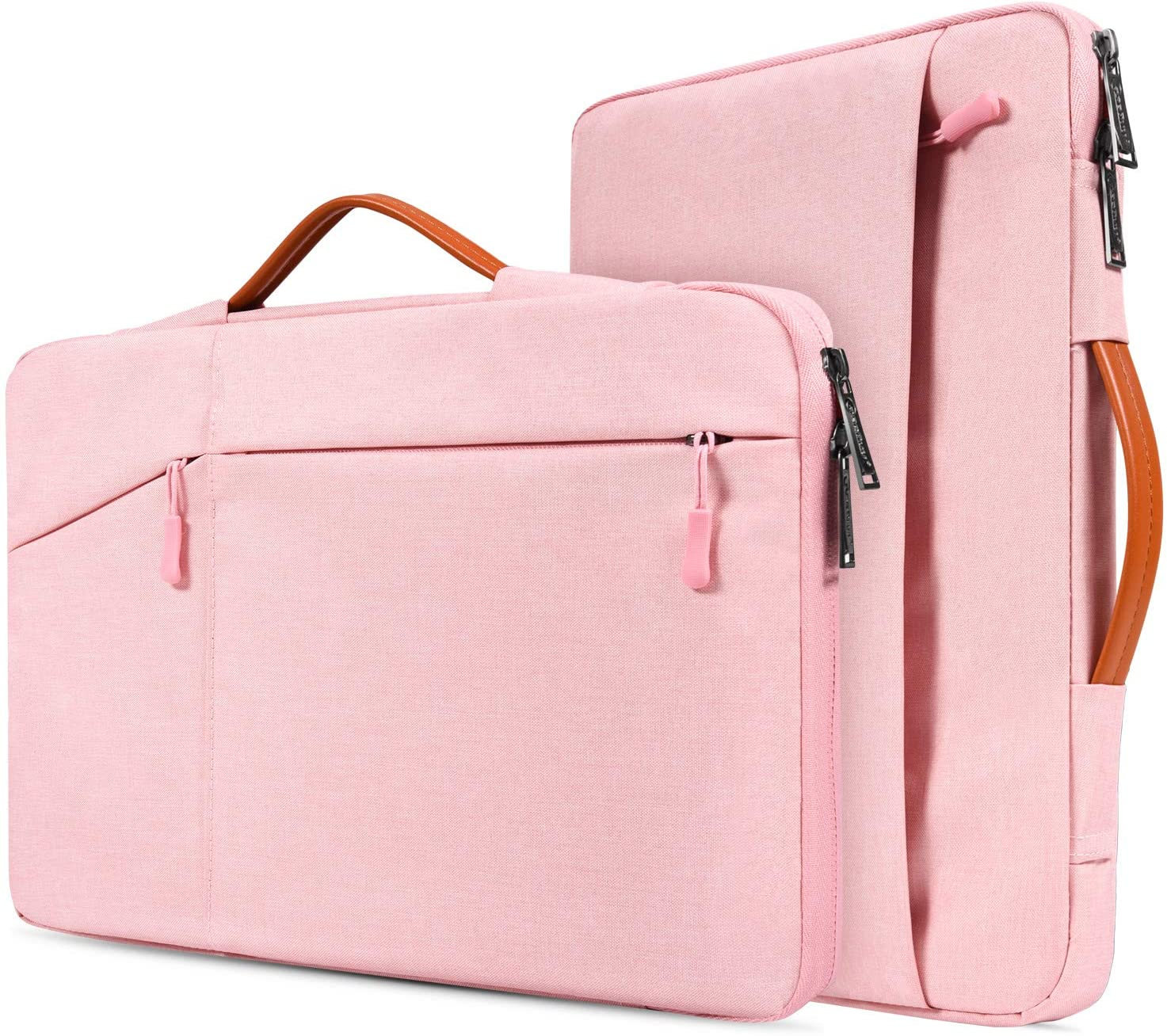 11.6-12.9 Inch Laptop Briefcase Bag for DELL XPS 13 9380, Lenovo Chromebook C330, Samsung Chromebook Pro 12.2 12.3, Surface Pro 6/5, Google Pixel Slate, 360° Protective Notebook Bag Girls Women,Pink