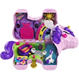 Polly Pocket Unicorn Party Large Compact Playset with Micro Polly & Lila Dolls, 25+ Surprises to Discover & Fun…