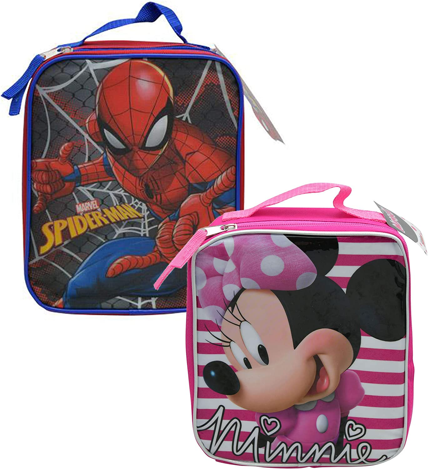 Disney Minnie Mouse Deluxe Bow-Tique Girls Backpack and Lunch Bag Set for Kids