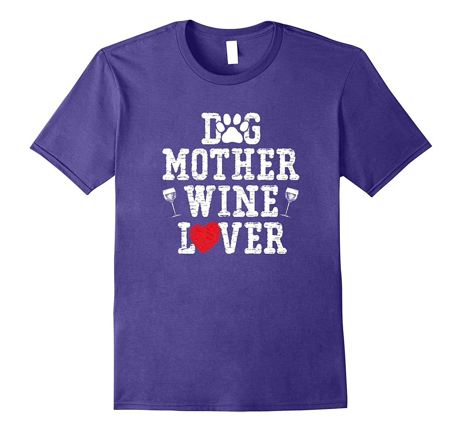 Funny Dog Mom - Wine Drinker Dog Mother Wine Lover T-Shirts-Art