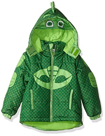 PJMASKS Toddler Boys Gekko Puffer Coat, Green, ...