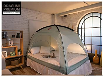 Floor-less Indoor Privacy Tent on Bed Blackout keep Warm Play Tent (Medium : play tents for beds - memphite.com