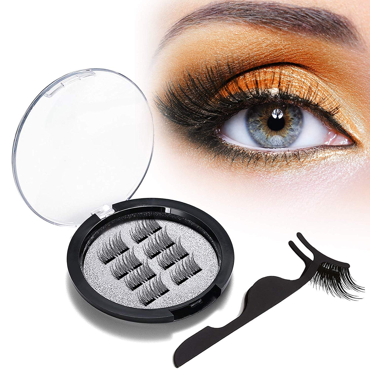e2af3d8754e Vassoul Dual Magnetic Eyelashes, 0.2mm Ultra Thin Magnet, Light weight &  Easy to