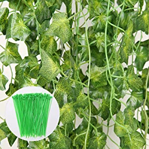 JOHOUSE 18PCS 126FT Artificial Ivy Leaf Plants Hanging Greenery Garlands for Wedding Party Wall or Yard Decor, Fake Plant Decor