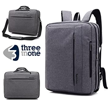 c0b1368aa7 Business Laptop Messenger Bag 17-17.3 Inch Grey Nylon Multi-compartment  Briefcase