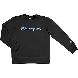 9ffe384e Champion Unisex Heritage Boy and Girls Fleece Pullover Scipt Sweatshirt