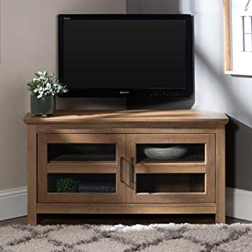 separation shoes 2f66c b03d5 Home Accent Furnishings New 44 Inch Corner Television Stand - Rustic Oak  Color