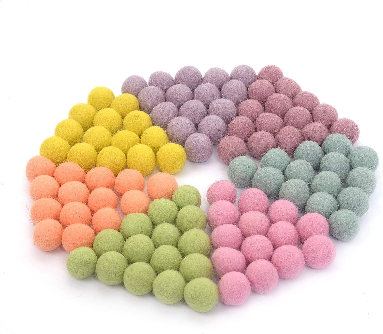 Felted Wool Balls,handmade fel balls,50pcs mixed color felt balls Pom Pom Balls 1,5 cm Wool Felt Balls Wool Felt Beads