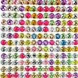 Wrapables 500-Piece Adhesive Rhinestone Crystal Diamond Stickers, 6mm, Multicolor