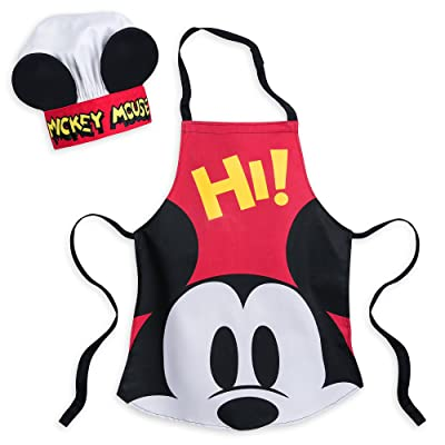Disney Mickey Mouse Apron and Hat Set for Kids: Kitchen & Dining