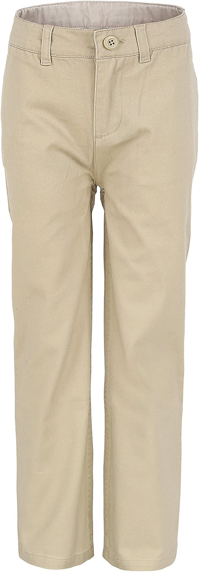 Bienzoe Big Boy/'s School Uniforms Flat Front Adjust Waist Pants