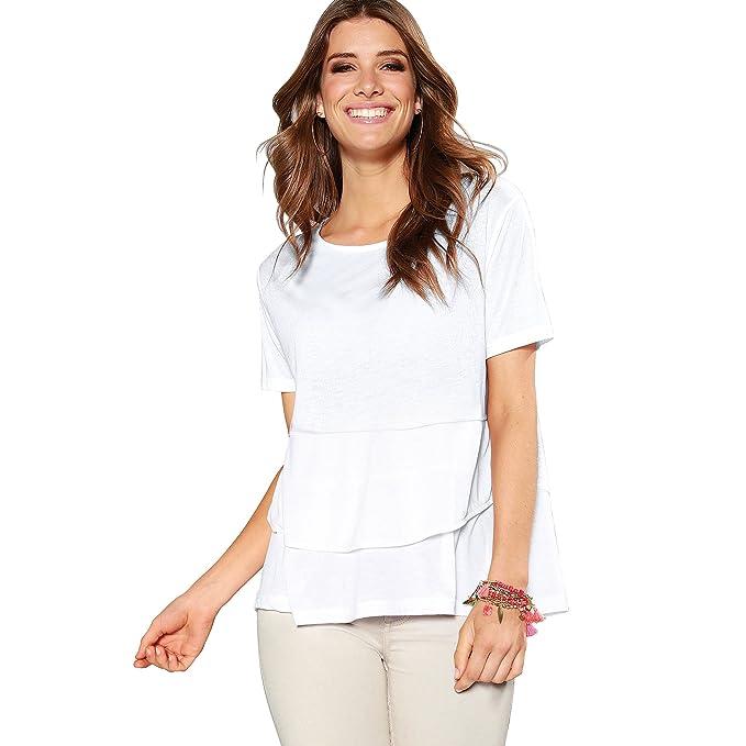 VENCA Camiseta Escote Redondeado y Manga Corta by Vencastyle: Amazon.es: Ropa y accesorios