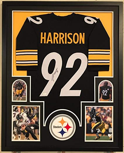 on sale 4bcb9 f18b7 FRAMED JAMES HARRISON AUTOGRAPHED SIGNED PITTSBURGH STEELERS ...