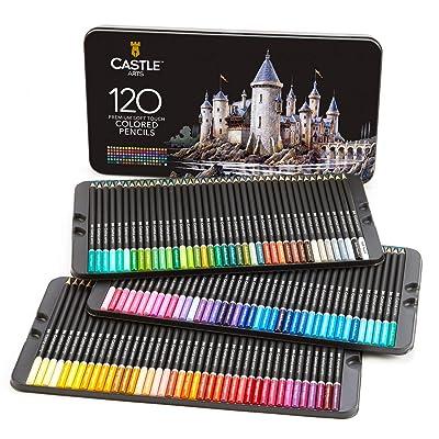 Castle Art Supplies 120 Colored Pencil Set