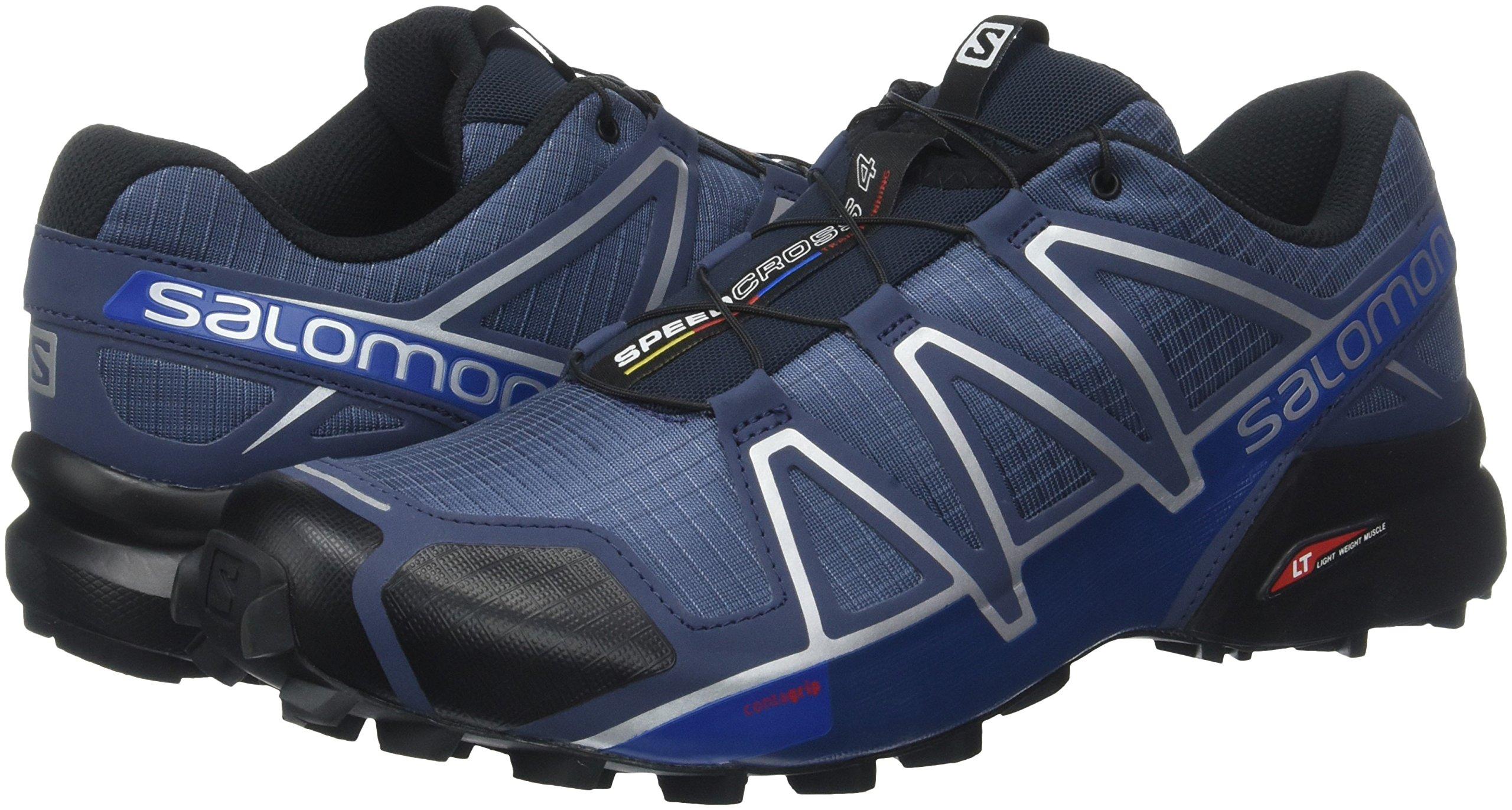 Salomon Men's Speedcross 4 Trail Runner, Slate Black/Blue Yonder, 7 D US by Salomon (Image #6)