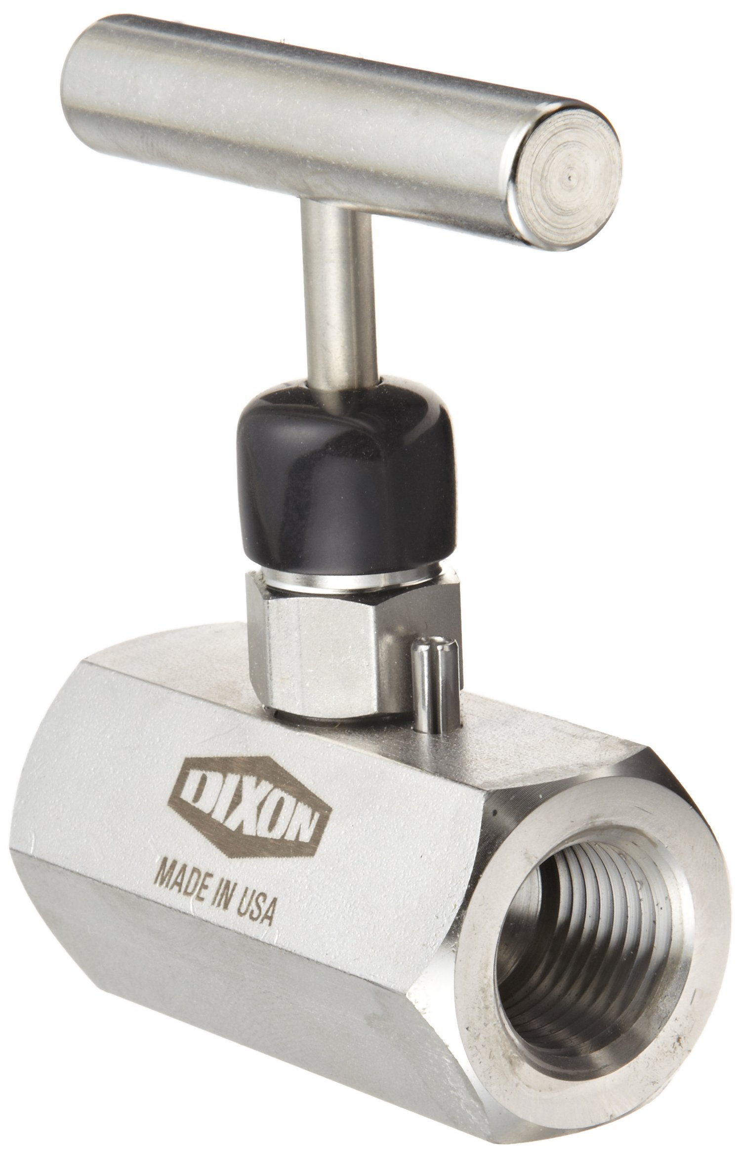Dixon FFS404 Stainless Steel 316 Mini Needle Valve, 1/2'' NPT Female