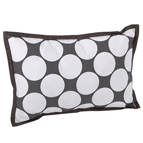 Bacati – Dots pin Stripes Grey Dec Pillow