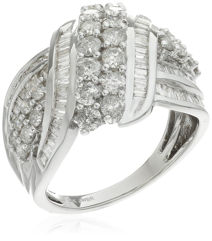 Amazon.com: 14 K Doble Fila Anillo de diamantes (2 quilates ...