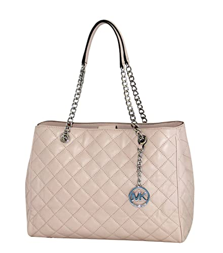 MICHAEL Michael Kors Susannah Womens Large Quilted Leather Handbag TOTE  (BALLET)