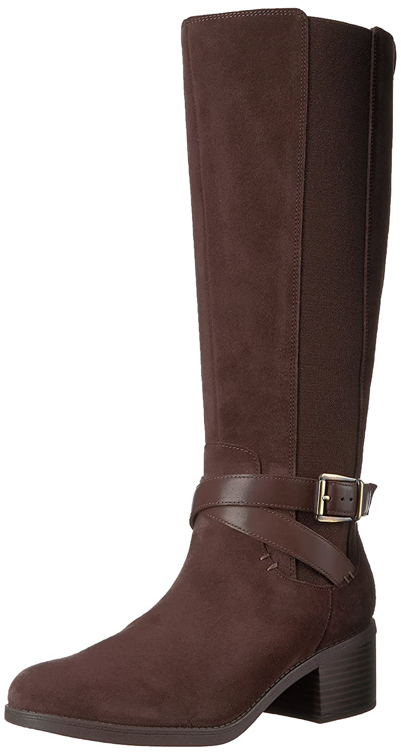 CLARKS Women's Emslie Sinai Wide Calf Riding Boot B01NBSGB5I 8.5 B(M) US|Dark Brown