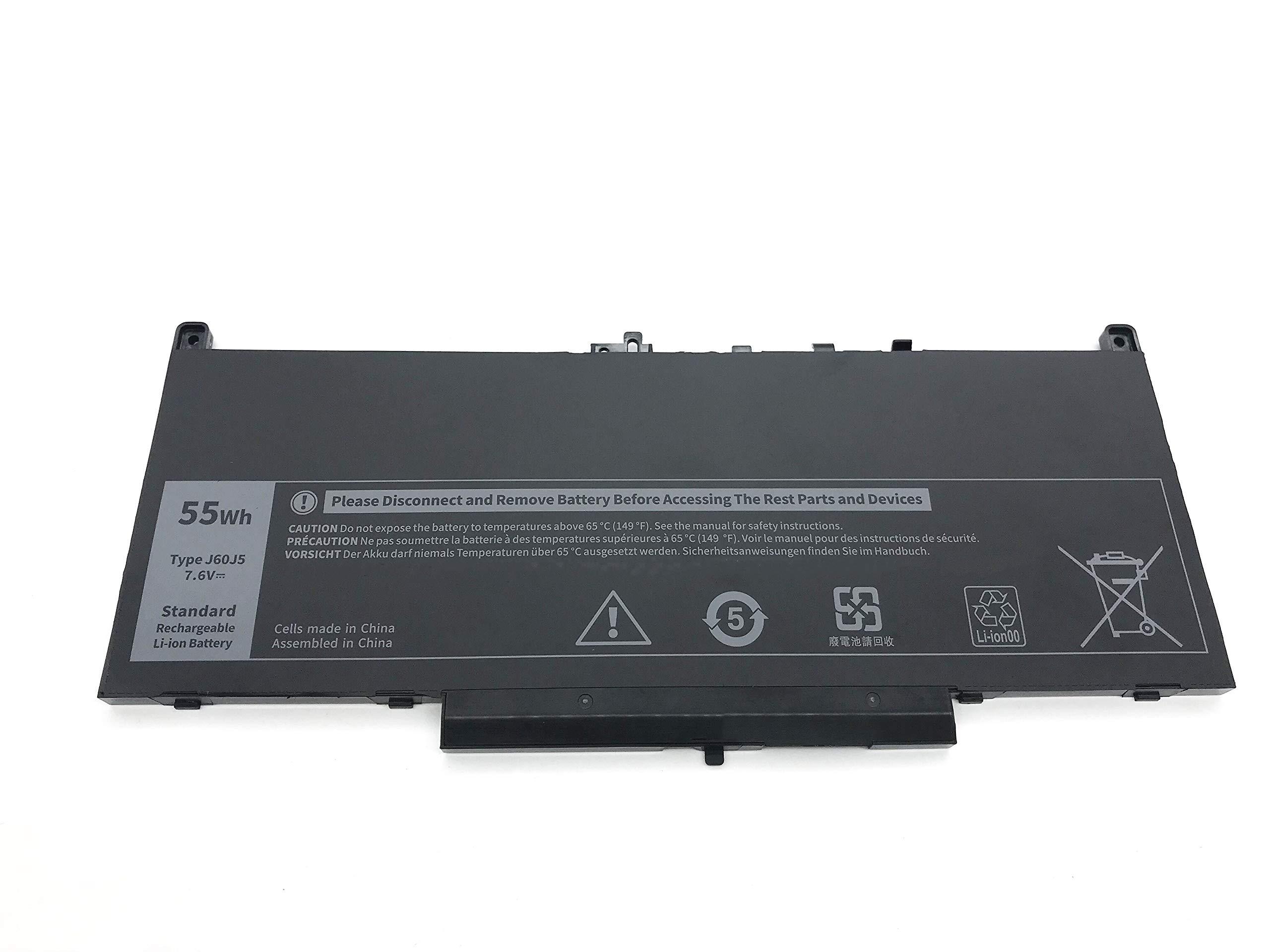 Bateria J60J5 7.6V 55Wh Dell Latitude E7270 E7470 Ser (YFVD)