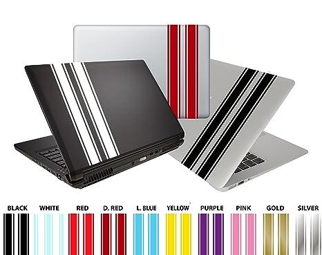 DesignDivil Personalizado Pro Racing Stripes de Vinilo Pegatinas para Tablet, Ordenador portátil, iMac,