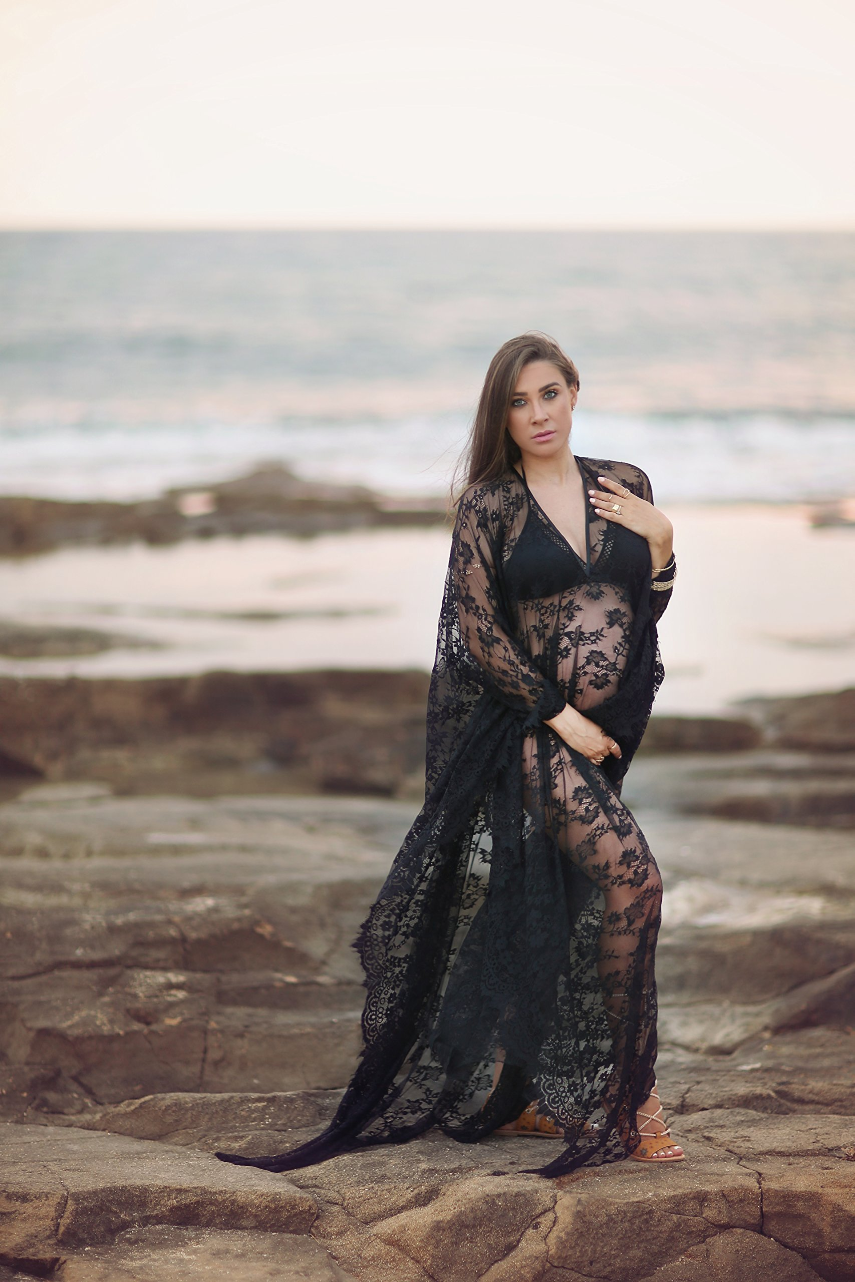 Soft Lace Caftan Dress | Could be used as Beach Dress or Bridal Kaftan Dress