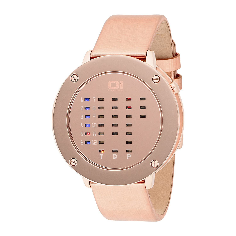 The One Damen-Armbanduhr mit binÄrer LED Zeitanzeige IRR320RB1
