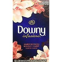 Downy infusions hojas para secadora aroma amber blossom