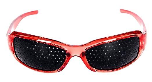HealthPanion Lunettes à grille pour renforcement de la vue – Mixte - Rouge be50d3eefa50