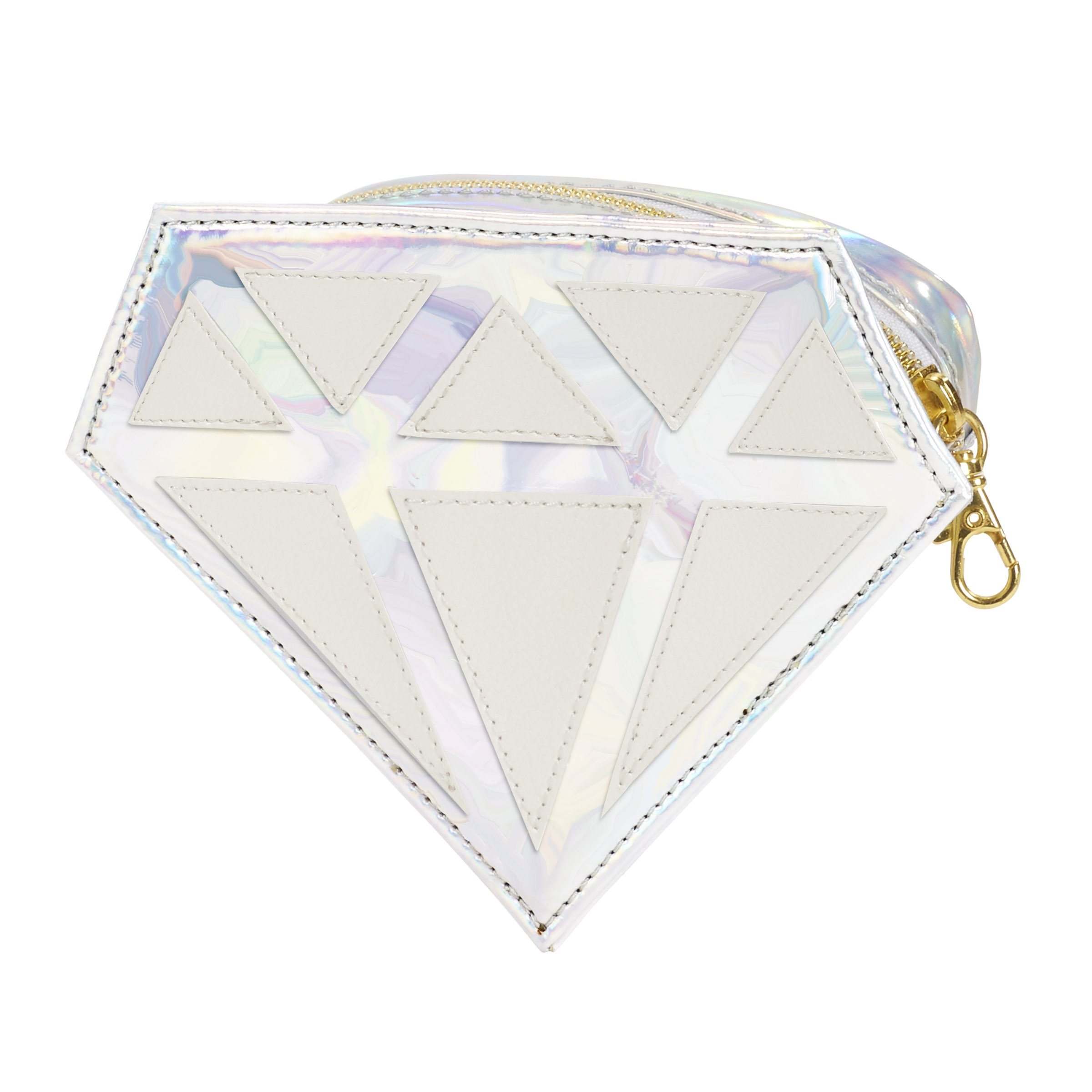 C.R. Gibson Women's Shaped Zippered Travel Or Bridal Mini Emergency Kit, 24pc, Diamond