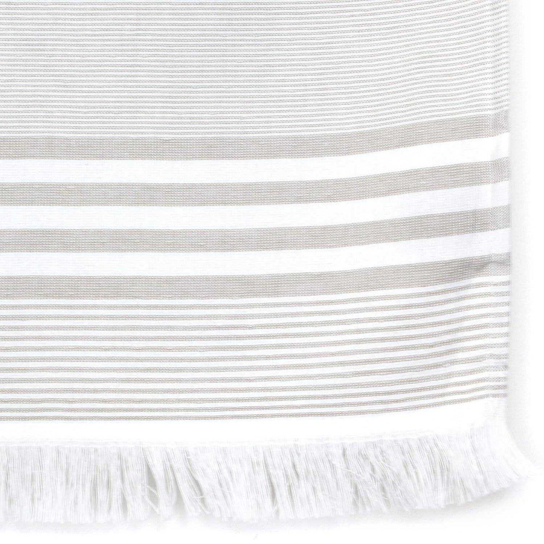 Fouta - Toalla de playa (100 x 180 cm, 100% algodón, 290 g/m² Cinque rayas beige: Amazon.es: Hogar