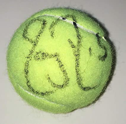6a5618794b8 Roger Federer Signed Autograph Tennis Legend Champion New Ball With Coa - Autographed  Tennis Balls at Amazon s Sports Collectibles Store
