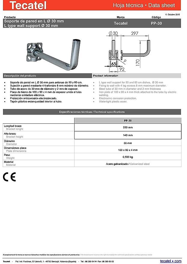 Tecatel E60C1LSCCK1 - Kit parabólica 60 cm, soporte, LNB universal, cable, conectores, grapas, bridas y buscador: Amazon.es: Bricolaje y herramientas
