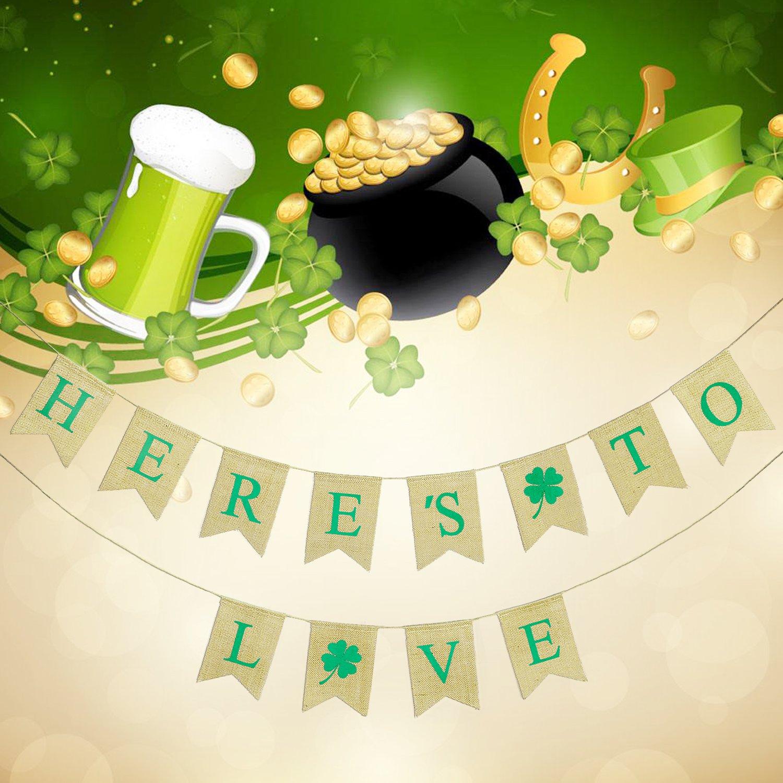 Konsait St Patricks Day Wimpelkette hängen Irish Kleeblatt Bunting ...