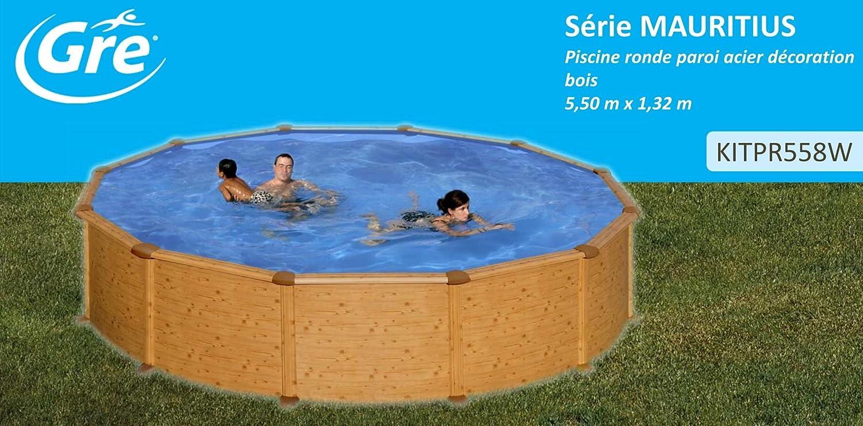 Piscina dream pool mauritius imitacion madera 6,10x3,75x1,32m ...