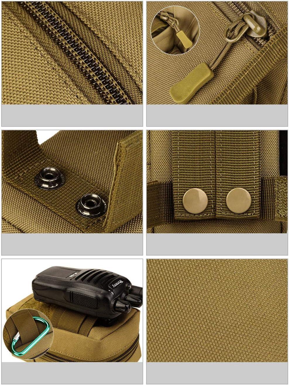 Selighting Pochette Molle Sac Militaire Petit Imperm/éable Sac Banane Tactique pour Accessoire