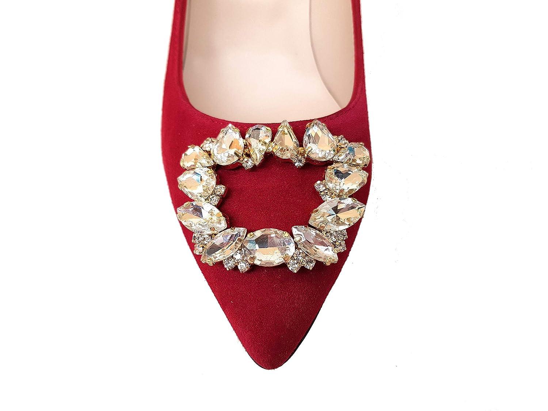 Gennia MEDIMPRE - Damen Pumps mit Stiletto Absatz Absatz Absatz 7 cm und Ornament mit Kristallsteinen c05137