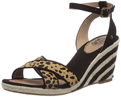 De London Sandalias Jeans Wedge Vestir Pepe Print Sark Animal gY6y7bf