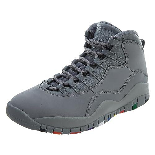 buy popular 64e1f 644be Nike Air Jordan 10 Retro Men's Shoes Cool Grey/Cool Grey/White 310805-022  (9.5 D(M) US)
