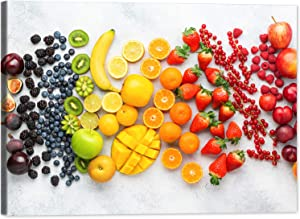 GUTTATY Kitchen Canvas Wall Art Fruit Picture Dining Room Canvas Painting for Home Wall Decor, Healthy Fruit Food Framed Artwork for Kitchen Restaurant Decoration Ready to Hang (28