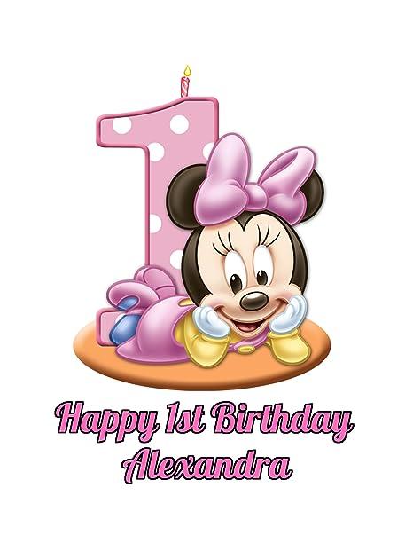 Amazon.com: Minnie Mouse Primer Cumpleaños de la muchacha ...