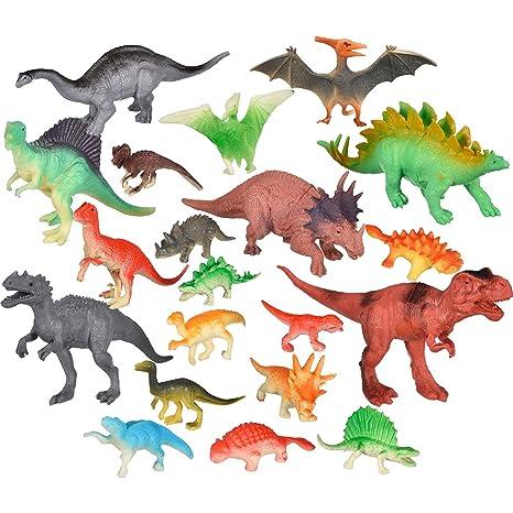 20 Pezzi Realistico Dinosauri Giocattoli Set Figure Dinosauro Giochi