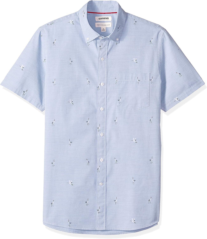 Goodthreads Mens Standard-Fit Short-Sleeve Seersucker Shirt Brand