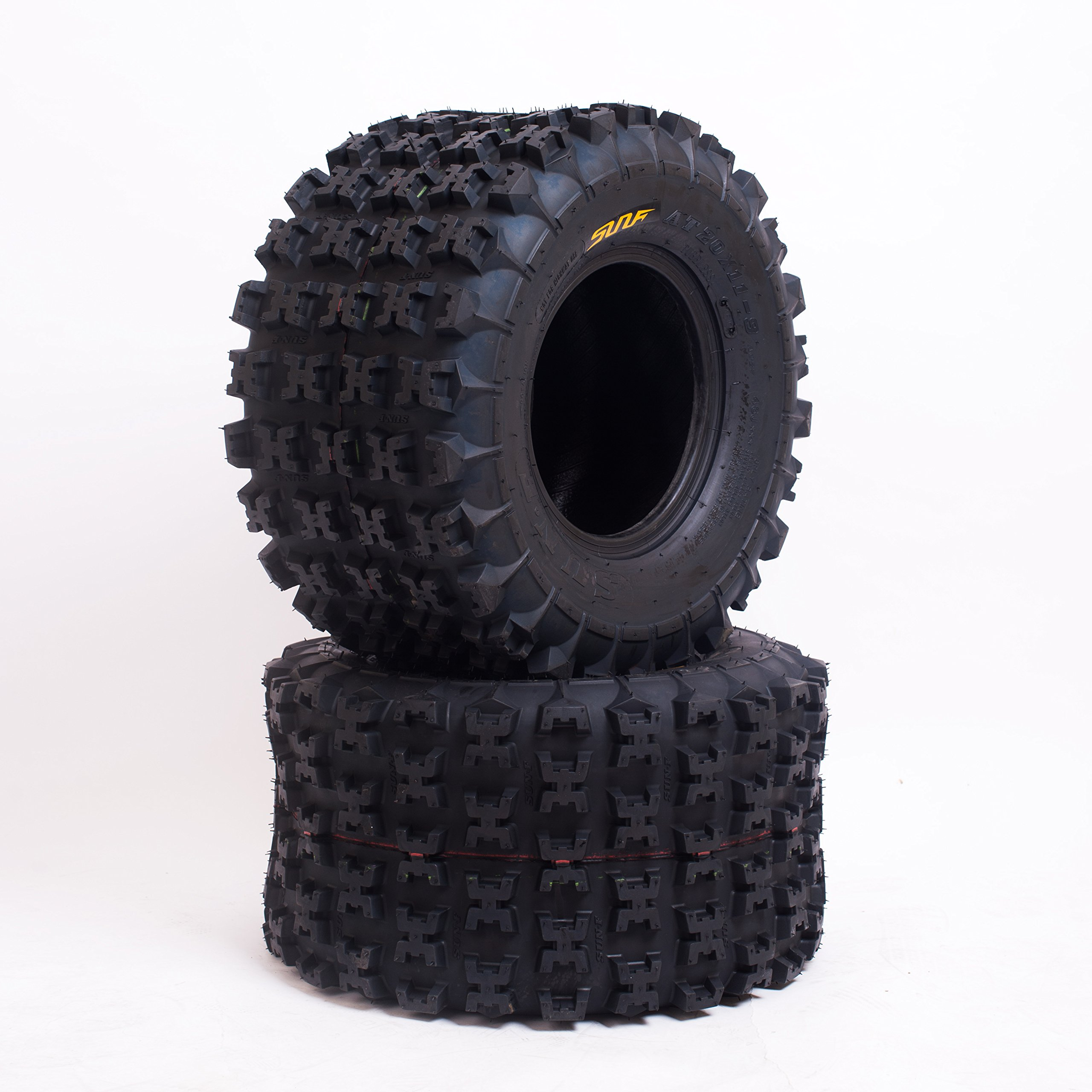 Set of 2 SunF A027 ATV Tire 22x11-9 Rear, 6 Ply by SunF (Image #2)